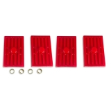 1967-1969 Camaro Energy Suspension Leaf Spring Pad Set Multi Leaf Red: 3-6112R