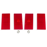 1967-1969 Camaro Energy Suspension Leaf Spring Pad Set Mono Leaf Red: 3-6113R
