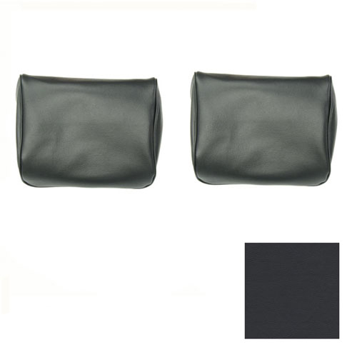 1968-1969 Camaro TMI Bucket Seat Headrest Covers, Black: 43-80609-2295