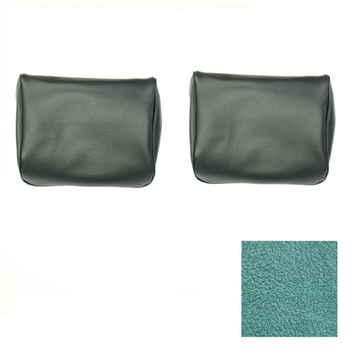 1968 Camaro TMI Bucket Seat Headrest Covers, Turquoise Metallic: 43-80609-3046