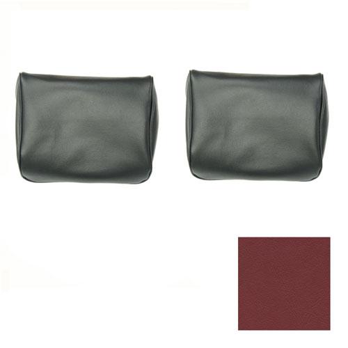 1968 Camaro TMI Bucket Seat Headrest Covers, Red: 43-80609-3048