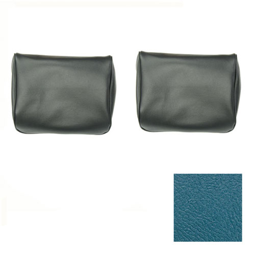 1968 Camaro TMI Bucket Seat Headrest Covers, Medium Blue Metallic: 43-80609-3297