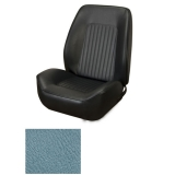 1967-1968 Camaro Coupe Standard TMI Sport 2 Seat Upholstery Front Buckets Only, Light Blue Metallic