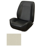 1967-1968 Camaro Coupe Standard TMI Sport 2 Front & Rear Seat Upholstery Kit, Parchment/Off White