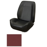 1967-1968 Camaro Coupe Standard TMI Sport 2 Front & Rear Seat Upholstery Kit, Red