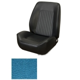 1967-1968 Camaro Coupe Standard TMI Sport 2 Seat Upholstery Front Buckets Only, Medium Blue Metallic