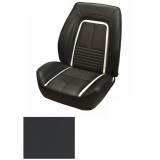 1967 Camaro Coupe Fold Down Deluxe TMI Sport 2 Seat Front & Rear Upholstery Kit, Black with White Stripe