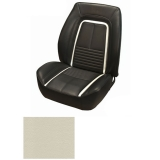 1967 Camaro Coupe Fold Down Deluxe TMI Sport 2 Seat Front & Rear Upholstery Kit, Parchment with Black Stripe