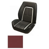 1967 Camaro Coupe Fold Down Deluxe TMI Sport 2 Seat Front & Rear Upholstery Kit, Red with Black Stripe