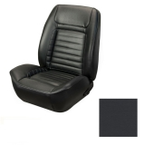 1968 Camaro Coupe Fold Down Deluxe TMI Sport 2 Seat Upholstery Front & Rear Kit, Black