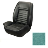 1968 Camaro Coupe Fold Down Deluxe TMI Sport 2 Seat Upholstery Front & Rear Kit, Turquoise Metallic