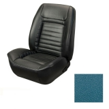 1968 Camaro Coupe Deluxe TMI Sport 2 Front & Rear Seat Upholstery Kit, Medium Blue Metallic