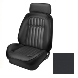 1969 Camaro Coupe Fold Down Deluxe Comfortweave TMI Sport 2 Front & Rear Seat Upholstery Kit, Black