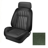 1969 Camaro Coupe Fold Down Deluxe Comfortweave TMI Sport 2 Front & Rear Seat Upholstery Kit, Dark Green