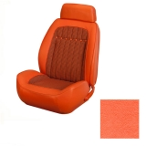 1969 Camaro Coupe Houndstooth TMI Sport 2 Bucket Seat Upholstery, Orange