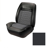 1968 Camaro Coupe Fold Down Houndstooth TMI Sport 2 Seat Upholstery Front & Rear Kit, Black
