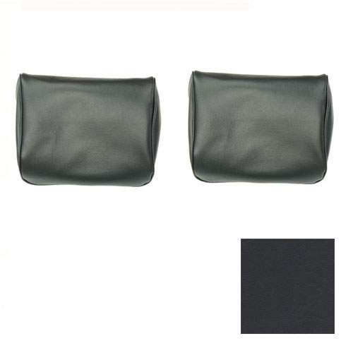1968-1972 El Camino TMI Bench Seat Headrests Black: 43-82708-2295
