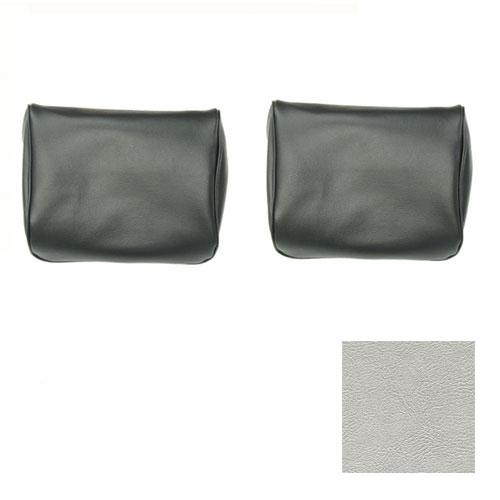 1968, 1970 El Camino TMI Bucket Seat Headrests Metallic Parchment/Pearl White: 43-82608-3295