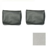 1968, 1970 El Camino TMI Bench Seat Headrests Metallic Parchment/Pearl White: 43-82708-3295