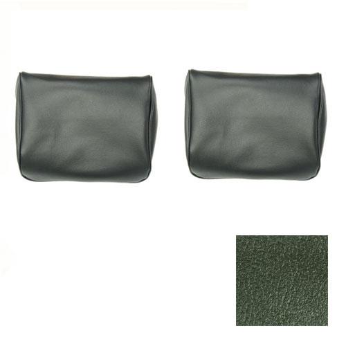 1969-1970 El Camino TMI Bucket Seat Headrests Dark Green: 43-82608-3606