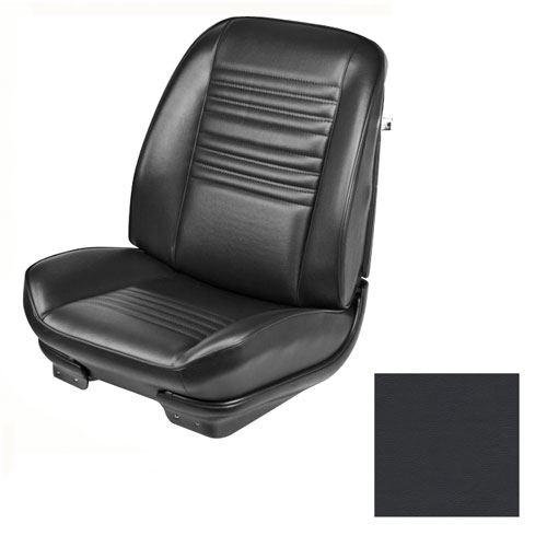 1967 Chevelle TMI Sport Front & Rear Seat Upholstery Buckets, Black Coupe