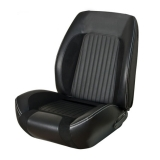 1967-1968 Camaro Standard TMI Sport R Bucket Seat Upholstery, Black with Red Stitch