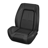 1967 Camaro Deluxe TMI Sport R Bucket Seat Upholstery, Black with Red Stitch