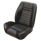1968 Camaro Coupe Deluxe TMI Sport R Seat Upholstery Front & Rear Kit, Black w/ Red Stitch