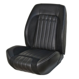 1969 Camaro Fold Down Deluxe TMI Sport R Front & Rear Seat Upholstery Kit, Black with Red Stitch
