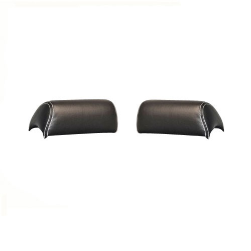 1968-1969 Camaro TMI Sport R Headrest Covers, Black with Red Stitch: 46-80009-2295-RS
