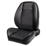 1965 El Camino Standard OEM Style Low-Back Seats without Headrests, Madrid Grain Vinyl, Black