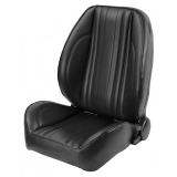 1969 Chevelle Pro Series OEM Style Low-Back Seats without Headrests, Black Madrid Grain Vinyl