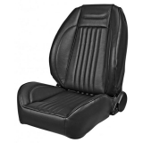 1971-1972 Chevelle Pro Series OEM Style Low-Back Seats without Headrests, Black Madrid Grain Vinyl