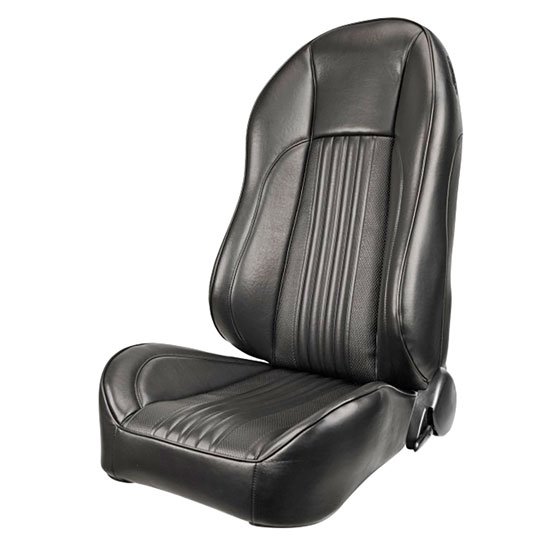 1968 El Camino Pro Series OEM Style High-Back Seats, Black Madrid Grain Vinyl