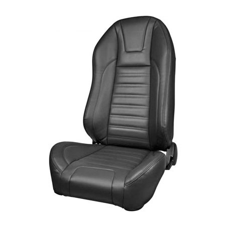 1968 El Camino Sport R Pro Series High-Back Seats, Black with Red Stitch