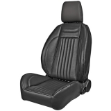 1971-1972 Chevelle Pro Series OEM Style Low-Back Seats with Headrests, Black Madrid Grain Vinyl
