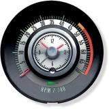 1968 Camaro Tic Toc Tachometer 5000 Rpm Redline