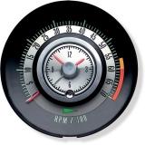 1968 Camaro Tic Toc Tachometer 6000 Rpm Redline