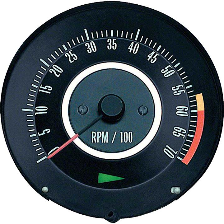 1967 Camaro Tachometer 6000 Rpm Redline