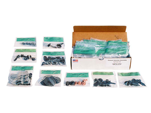 1968 Chevelle Coupe AMK Interior Screw Kit, 372 Piece.