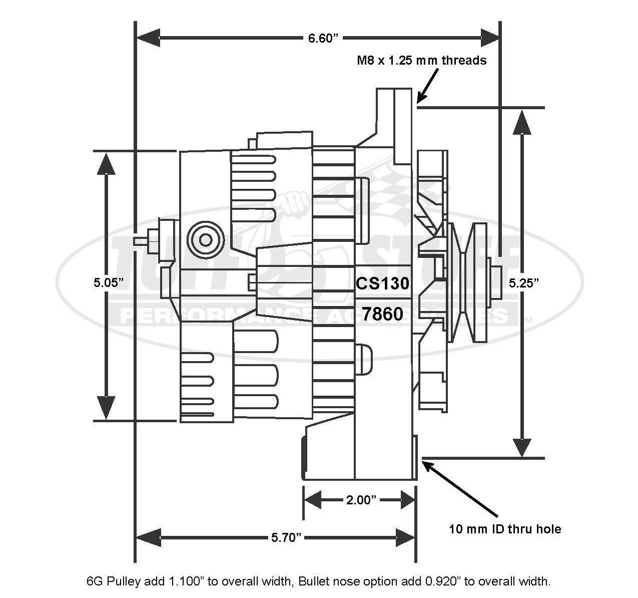 1987-1994 GM KoolCharger 160 Amp 1 Wire or OEM Alternator, 6 Groove ...