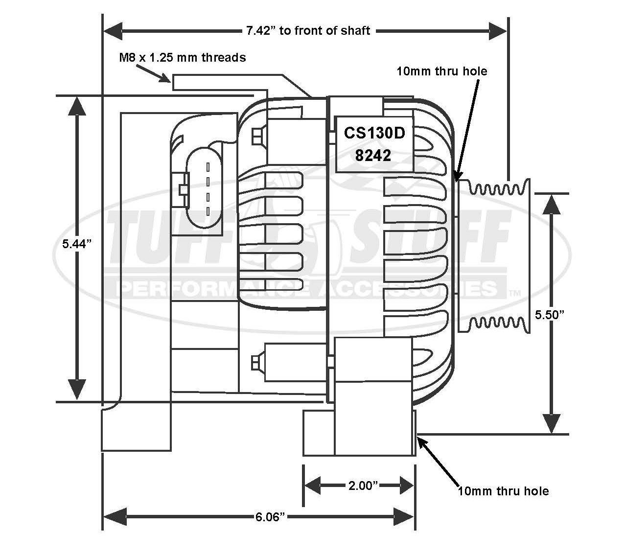 2000 Camaro Cs130d Alternator Wiring Diagram A B Switch Connector 4 1998 2002 Ls1 125 Amp 6 Groove Pulley Chrome On 1992 Chevy Expert