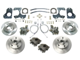 1982-1988 G-Body 4 Wheel Disc Brake Upgrade Kit, Black Calipers, w/ Parking Brake
