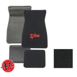 1967-1973 Chevrolet ACC Carpeted Floor Mats Z/28 Logo 01 Black