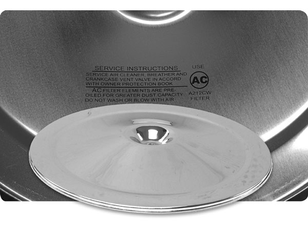 1968-1979 Nova 14 Inch Air Cleaner Lid (Chrome) With Service Instructions