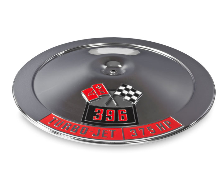 1962-1979 Nova 14 Inch Air Cleaner Lid With Die Cast Emblems, 396, 375 Horsepower