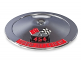 1964-1977 Chevelle 14 Inch Air Cleaner Lid With Die Cast Emblems, 454, 450 Horsepower
