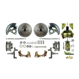 1964-1972 Chevelle Front Disc Brake Conversion Kit, 9 Inch Booster, 2 Inch Drop Spindles