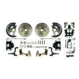 1967-1969 Camaro Front Disc Brake Conversion Kit, 8 Inch Chrome Booster, Black Show N' Go