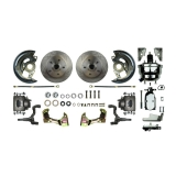 1967-1969 Camaro Front Disc Brake Conversion Kit, 8 Inch Chrome Dual Diaphragm Booster